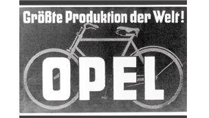 Opel – 1886 – Världens största cykeltillverkare på 1920-talet.