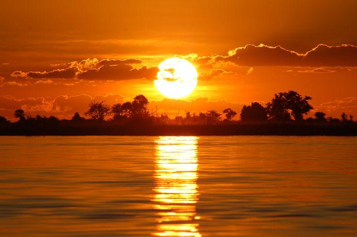 Amazing sunset, Chobe Riverfront, Botswana