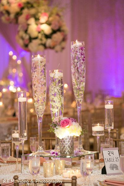 Lovely indian wedding reception decor http://www.maharaniweddings.com/gallery/photo/91402 @source/blissfulweddingsandevents.com