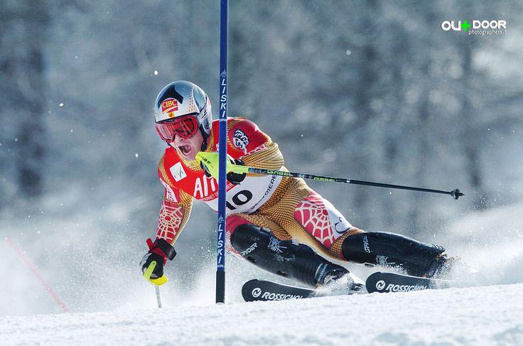 Fotografia Sportiva  invernale, Neve, Campionato del mondo FIS Sci Slalom Speciale  Piemonte Italia Sestriere