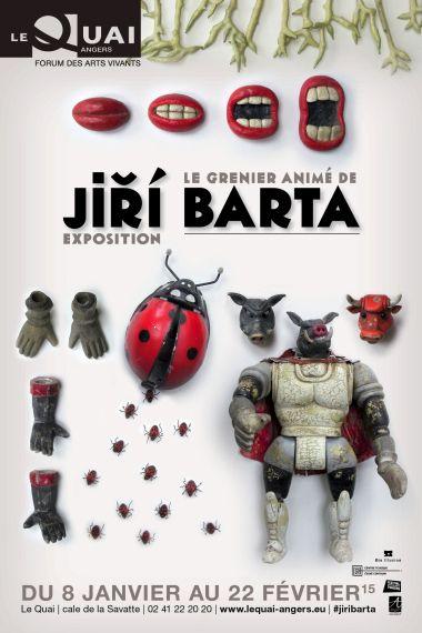 Affiche Jiri Barta Angers par Solange Abaziou visuel pour Le Quai Angers