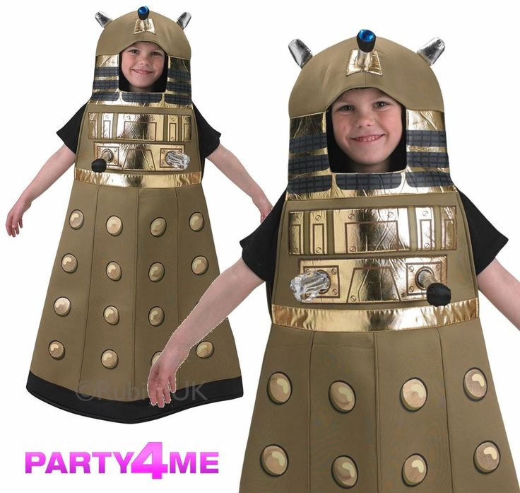OFFICIAL KIDS GOLD DALEK DOCTOR WHO OSWIN COSPLAY FANCY DRESS COSTUME BOOK WEEK #RubiesLicensed #Dalek