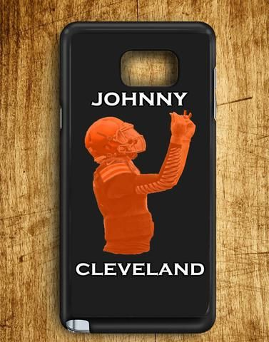 Johnny Cleveland Browns Football Johnny Manziel Texas A&m Draft Day Samsung Galaxy Note Edge Case