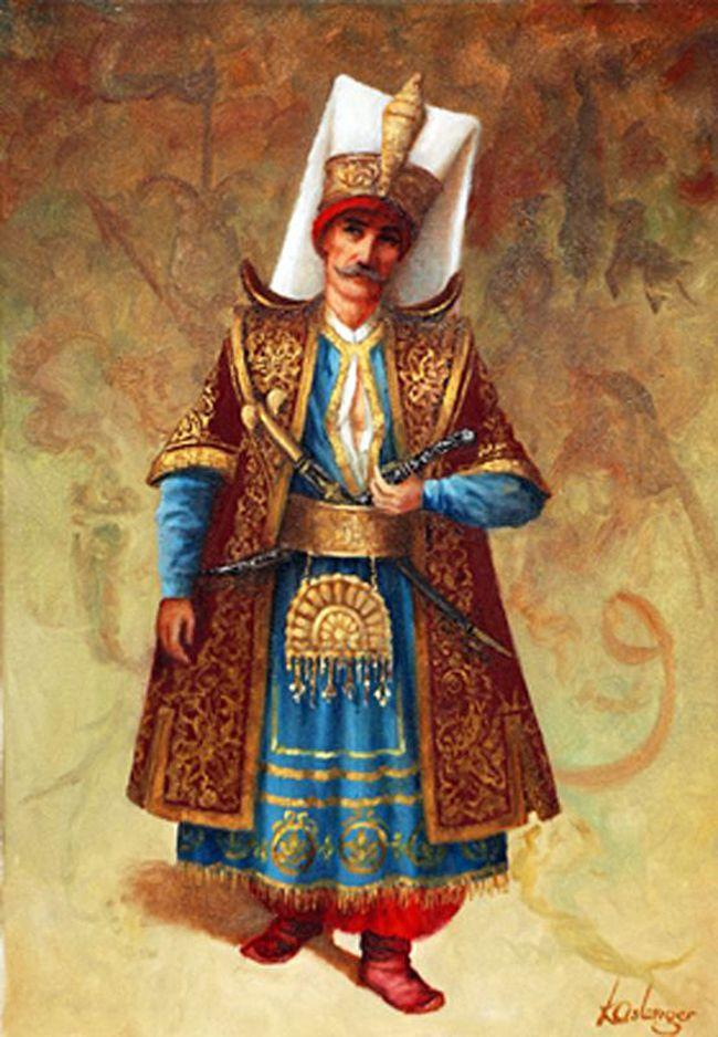 #yeniçeri, aşçıbaşı tören kıyafeti ile..