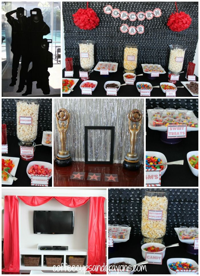 Movie Star Party..would be a great theme for a child's birthday party!