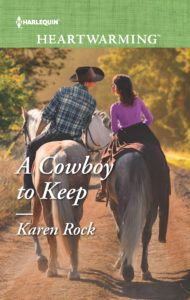 """""""Beautifully written… with a mystery/suspense element that I really, really enjoyed."""" - 5 Stars from Harlie's Books Blog! Stop by to read the rest of her review and enter to win a copy! #ARC Review of A Cowboy to Keep by Karen Rock w/a rafflecopter giveaway!  @karenrock5"""