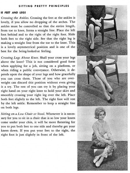 How to Sit Pretty! I could write an entire novel on this post!