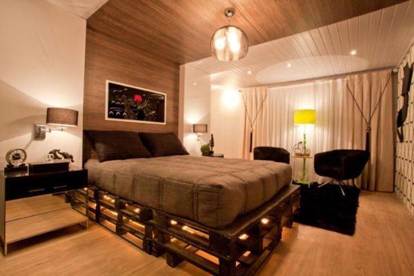 lighted pallet bed frame....