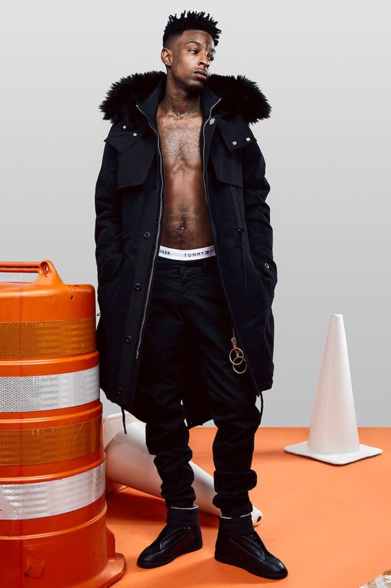 fd37d2cfce7 Rapper 21 Savage Models Off-White™ s 2016 Fall Winter Collection ...