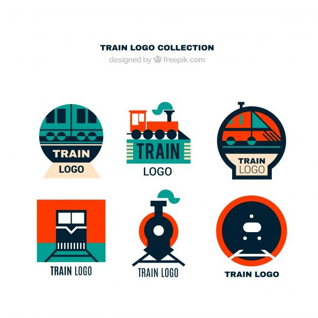 Download Collection Of Train Logos In Flat Design For Free Logo