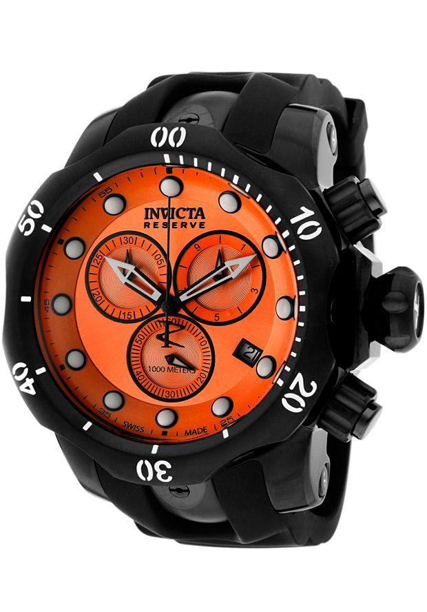 Invicta Men S Venom Reserve Chronograph Black Rubber