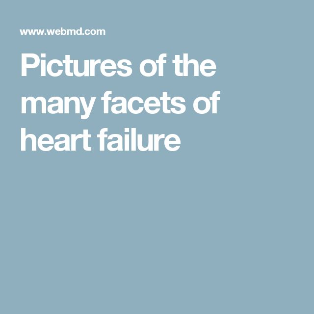 Pictures of the many facets of heart failure