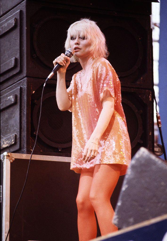 American Singer Debbie Harry Performing With Blondie At The Dr