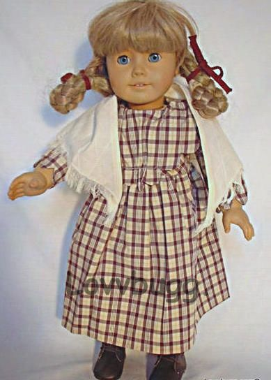 """Pioneer Plaid Dress + Shawl for 18"""" Kirsten American Girl Doll Widest Selection! #Lovvbugg"""