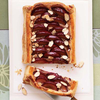 Almond-Plum Tart: Pastries Chef, Almonds Plum Tarts, Black Raspberries, Almondplum Tarts, Food, Puff Pastries, Raspberries Liqueurs, Pastry Chef, Tarts Recipes