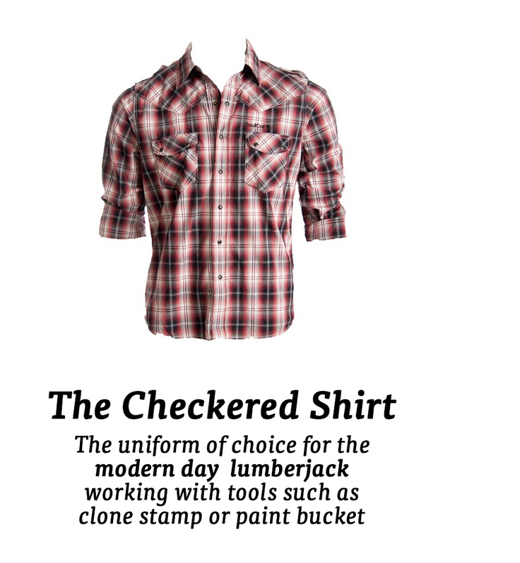 A checked shirt...
