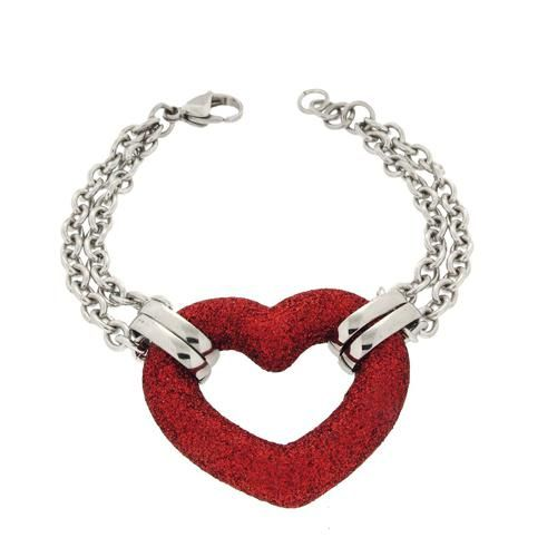 Bracelet with red heart