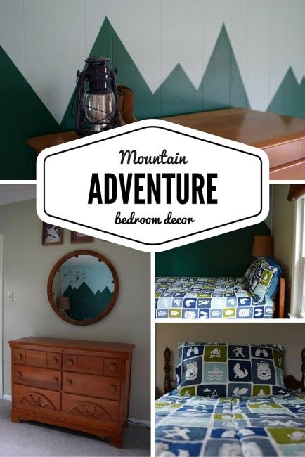 Bring The Mountains Home With This Adventure And Camping Themed Bedroom Decor