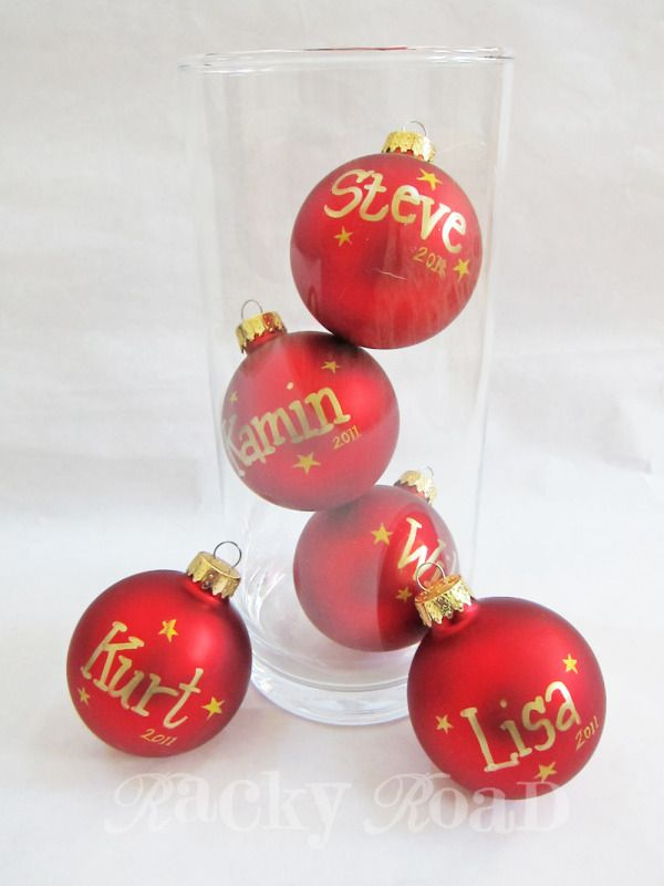 WOW, I could see this as a wonderful Bridal Shower, Wedding, or Baby Shower thing...  All the guests could create their own ornament for the bride and her groom for their first first Christmas! or for Baby's first Christmas! and a great idea for Wedding placecards too for a Winter Wedding!
