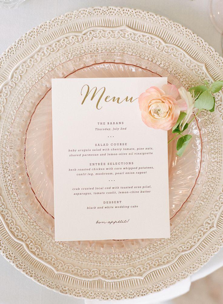 Pops of Pretty! Tablescape Inspiration Wedding menu