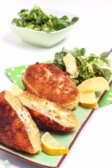 knuspriges Kartoffel Cordon Bleu
