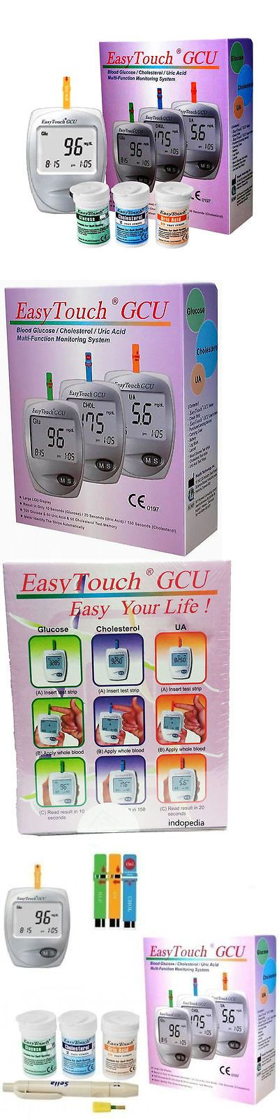 Cholesterol Testing: Easytouch 3 In 1 Monitoring System For Glucose, Cholesterol And Uric Acid -> BUY IT NOW ONLY: $53.3 on eBay!