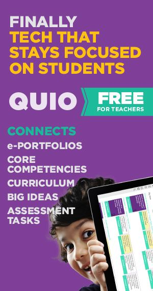 QUIO software gives teachers a simple, flexible environment to collect, analyze and communicate their students' progress. Now this new application is available free for teachers. Developed by Winnipeg-based Quipped Interactive Learning Tools, QUIO helps teachers keep the focus on learning, and not collecting data. Visit http://www.quio.ca