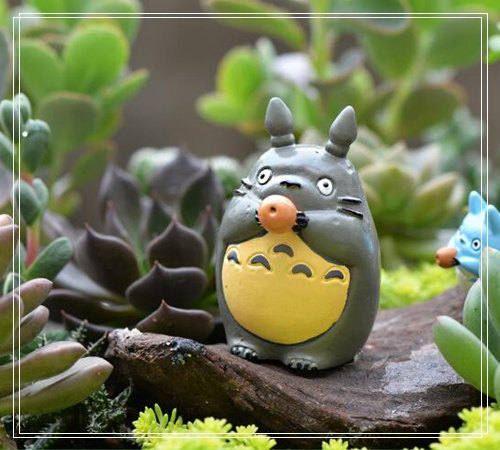 My neighbor totoro Cat Figure Fairy Garden Miniature Figurines