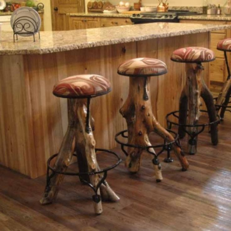 Log Cabin Builder Log Bar Stools Love It Pinterest