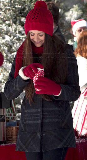 Elena's plaid coat on The Vampire Diaries.  Outfit Details: http://wornontv.net/42155/ #TheVampireDiaries