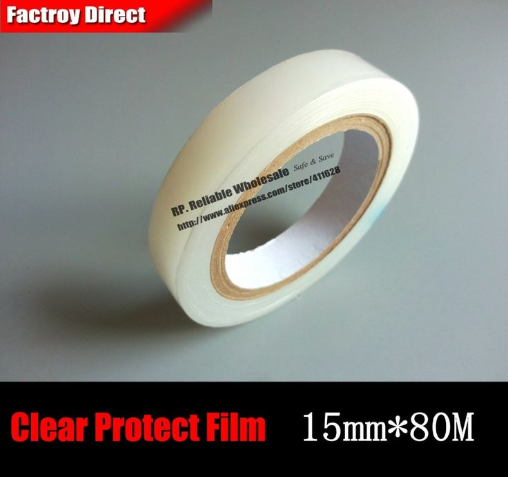 2 Roll (15mm*80M) Single Adhesive Transparent PE Protet Film Tape for PC/Laptop Housing Surface, Mobilephone Tablet GPS Screen