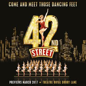A new revival of the classic Broadway musical 42nd Street will officially open in London's West End on 4th April 2017, following previews from 20th March.