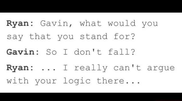Ryan vs. Gavin - Logic