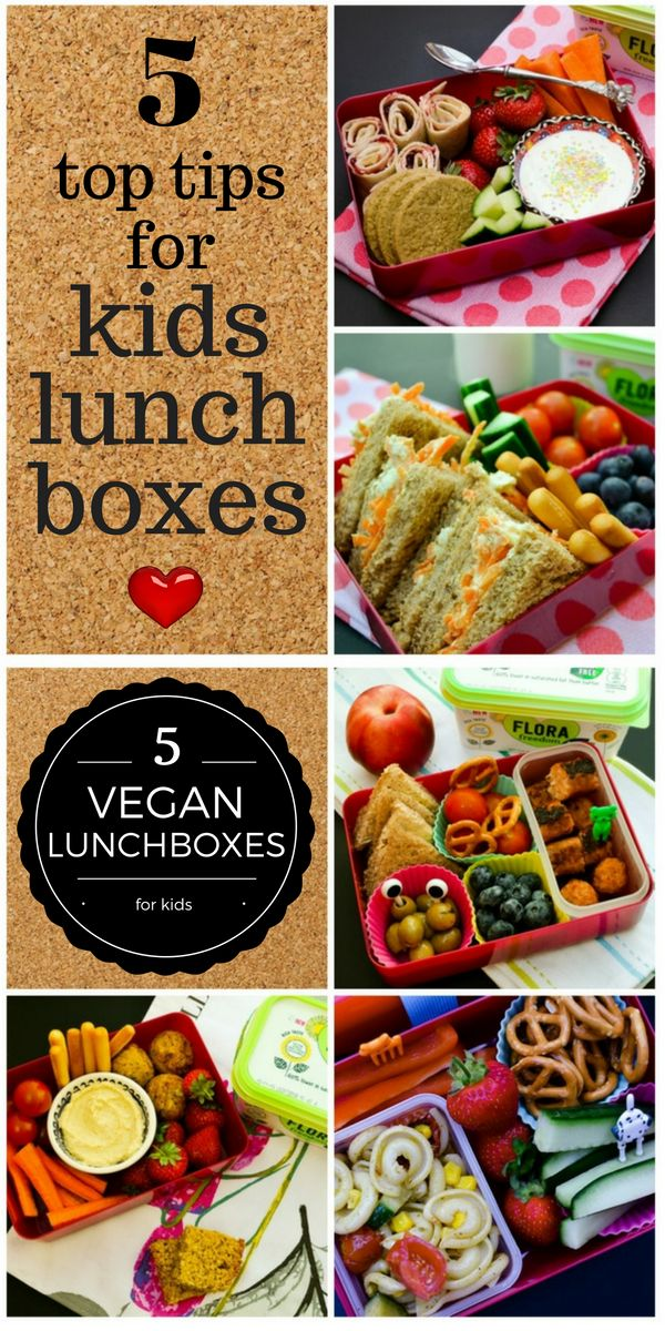 A five day vegan lunch plan for kids along with 10 lunchbox tips.