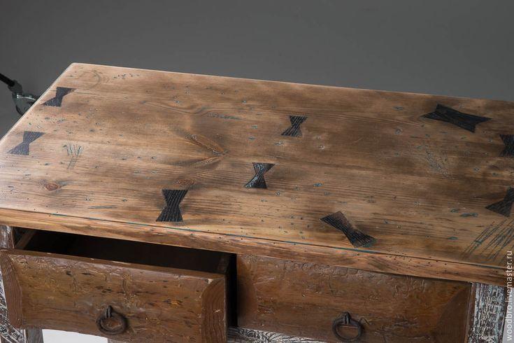 Купить Стол-консоль в старинном стиле. - стол, столик для завтрака, столик, под старину #rustic