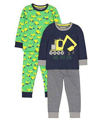 2fb343d3ced7 digger pyjamas - 2 pack