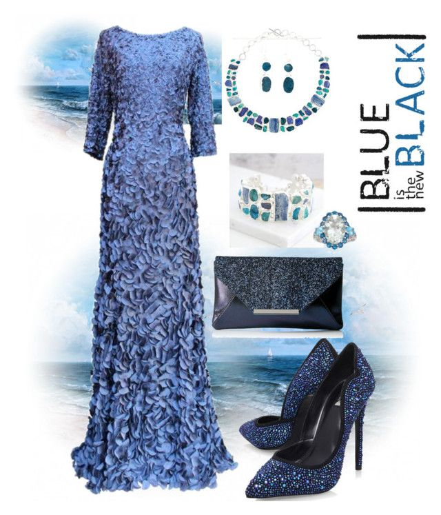 """""""Blue is the new Black"""" by scope-stilettos ❤ liked on Polyvore featuring Carvela, Jessica McClintock, Poppy Jewellery and Ross-Simons"""
