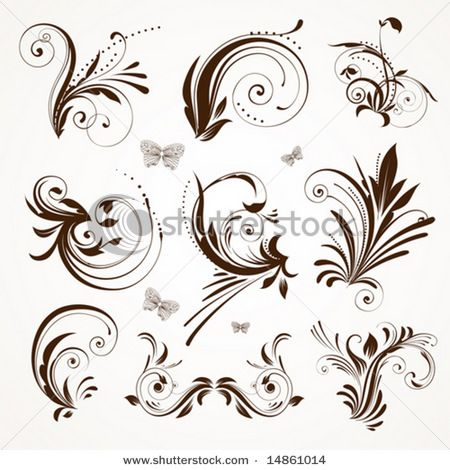 would love to try some of these scrolling patterns on black and white themed wedding cake...
