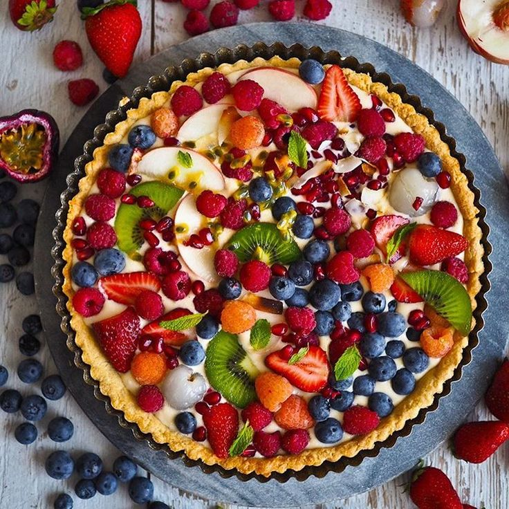 Coconut And Fruit Flan via @feedfeed on https://thefeedfeed.com/notquitenigella/coconut-and-fruit-flan