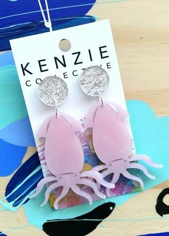 'Magical Squiddies' Dangle Earrings