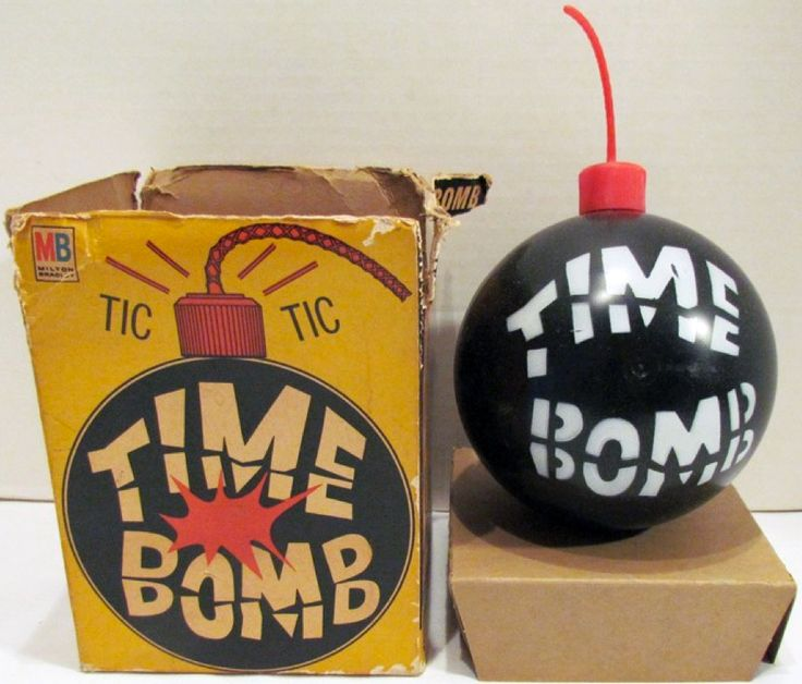 1965 Toys For Boys : Milton bradley s time bomb game vintage board games