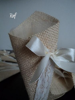 Creazioni di Raf - Wedding creations : coni juta