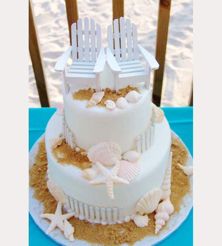 50 beach wedding cakes for your vows by the sea