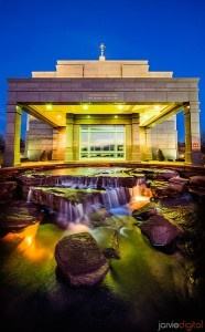 Absolutely stunning temple picture! The stream bed the beauty in the  glowing temple. Very impressive photography.  LDS Mormon Temples - Scott Jarvie (3) looks like the one in SnowFlake Arizona!