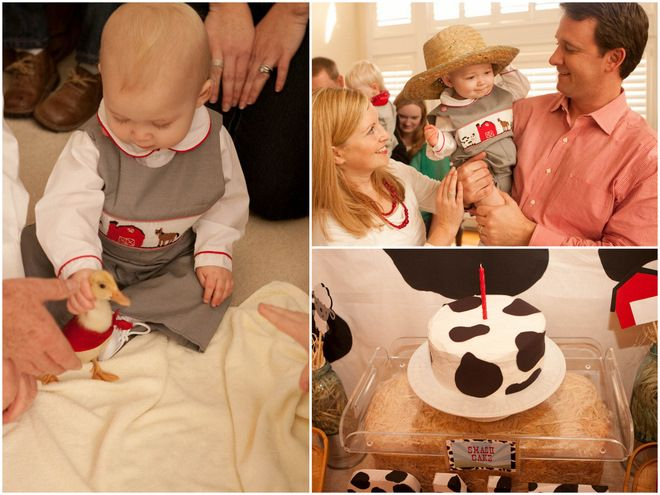 Love the cake and the outfit. This baby is just too cute!!