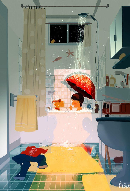 Singi in the Shower by PascalCampion.deviantart.com on @DeviantArt