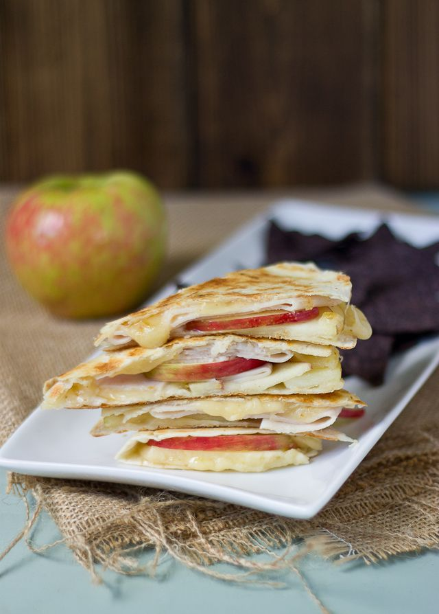 This Creamy Apple & Fig Quesadilla recipe is a quick, healthy lunch or dinner option that's full of flavor.