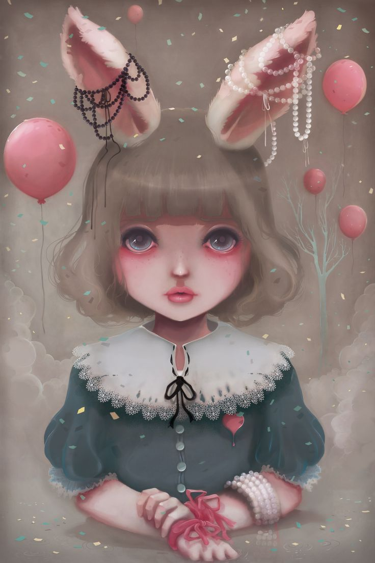 'Juliette, balloons & pearls...' beautiful #illustration work by Ludovic Jacqz (@BeyondtheChuch) on @Behance