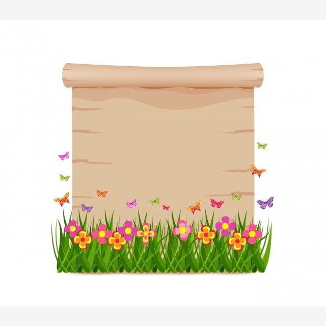 مفهوم العشب و فراشات الربيع مع ورقة بيضاء خلفيات الجمال جمال الطبيعة Png والمتجهات للتحميل مجانا Butterfly Concept Spring