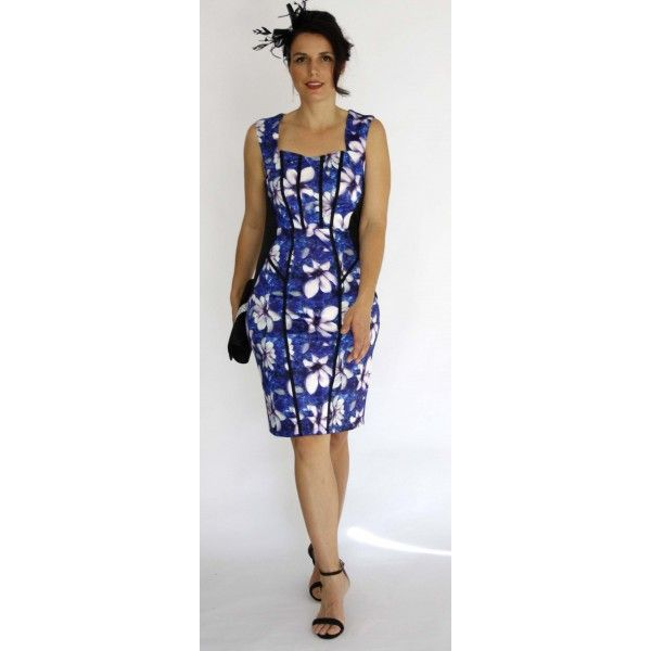 Uanna Floral Slimming Cocktail Dress
